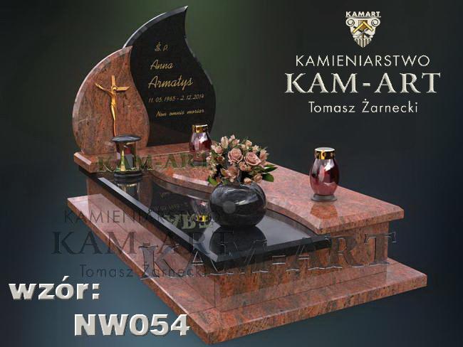 nagrobek mieszany projekt oryginalny Kraków
