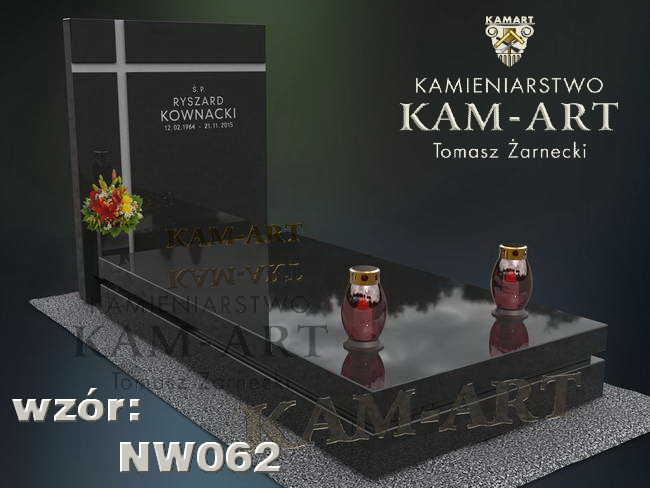 nowoczesny wzór nagrobka do Krakowa